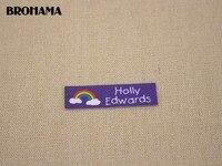 112 Rainbow Name Label Decorative Label Children S Clothing Label White Organic Cotton TB027