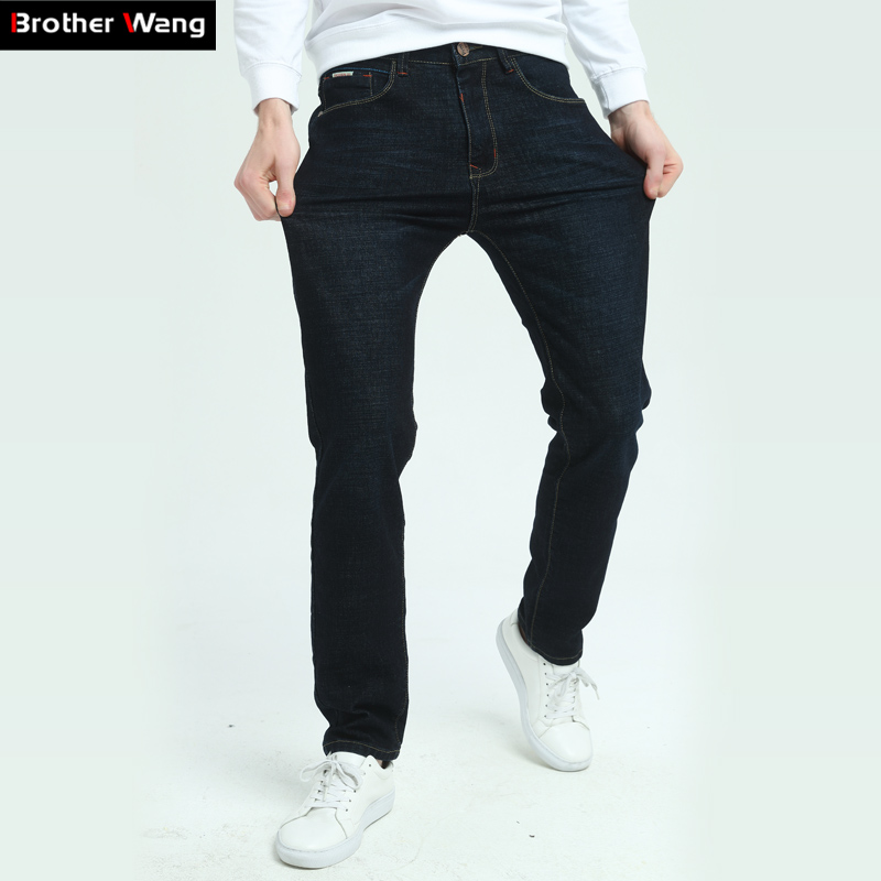 Brother Wang Brand 2017 Autumn Winter New Men's Black Jeans Fashion Slim Elastic Jeans Trousers Jeans Men Plus Size 40 42 iso1176tevm programmers development systems mr li