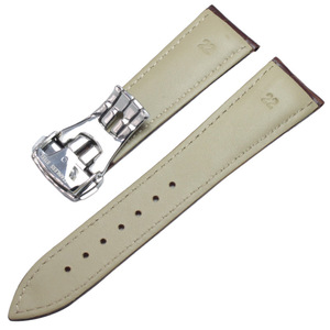 Image 2 - Watchbands 20mm 22mm Genuine Leather Watch Band Black Brown Orange Watch Strap Belt Replacement accessories Metal Steel Buckle