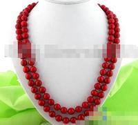 song voge gem nanJ2299 nature round red coral necklace