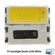 100pcs For SEOUL LED LED Backlight 1W 1.5W 7030 6V Cool white 150LM TV Application цена 2017