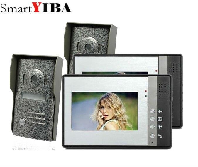Smartyiba 7 дюймов Цвет телефон видео домофон Дверные звонки Системы комплект ИК Камера монитор домофона громкой связи домофон