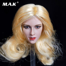 Brown Yellow Black hair 1/6 Kristen Stewart Head Carved Black Long Hair Head Model F 12'' PH Body(China)