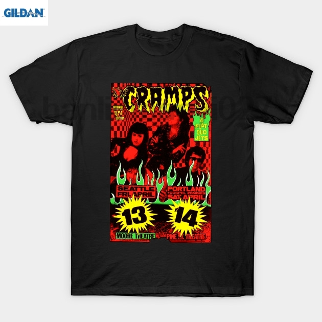 GILDAN The Cramps (Seattle &amp Portland shows) Colour 2 T Shirt ...