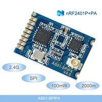 2,4G беспроводные модули 2000 м дальние расстояния NRF24L01 + PA + LNA беспроводные радиочастотные модули 100 мВт IPEX SPI радиочастотный передатчик и прием...