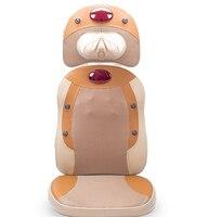 New Electric Shiatsu heating vibrating luxury body massage cushion full body massager free shipping