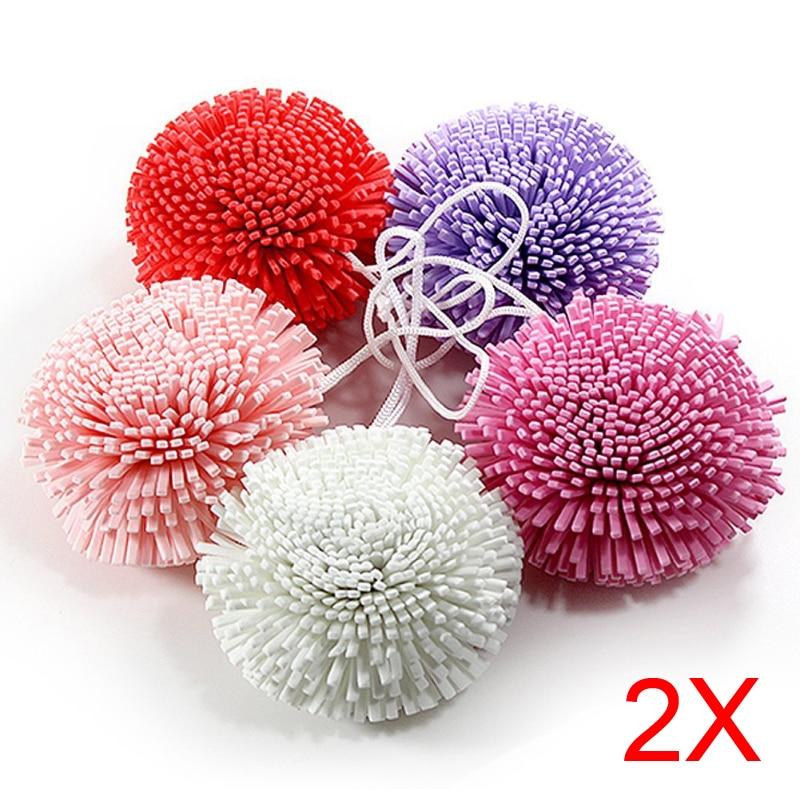 2pcs New Bath/Shower Body Exfoliate Puff Sponge Mesh EVA Colorful Bath Ball 88