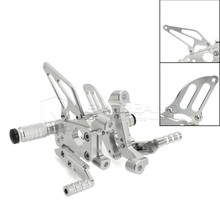 Black Silver Racing CNC Adjustable Rearsets Rear Set Footpegs For Ducati Panigale 1199 1199R 1199S 2012 2013 Freeshipping D10