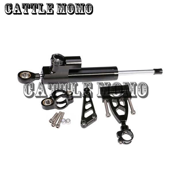 Motorcycle Steering Damper Complete Set Aluminum CNC Bracket kits for HONDA CB400 VTEC 1999-2012 2000 2001 2002 2003 2004 2005
