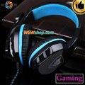 HiFi DJ Gaming Headset Gamer Fones De Ouvido de Jogos Para PC Fone De Ouvido Com Microfone Dual 3.5mm Plugue Auriculares Audifonos