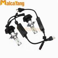 2PCS Plug Play Led 12V H4 6s Car Headlight Bulb For Philips Lamp Beads Cold White