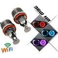 72W H8 LED CREE chip HID Bulb wifi control Angel Eyes light For BMW E60 E61 E63 E64 E70 X5 E71 X6 E82 E87 E89 Z4 E91 E92 M3 E93