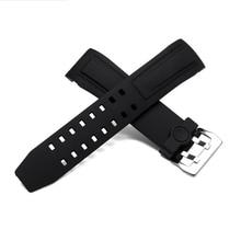 Nouveau En Caoutchouc Bracelets, 24 MM Haute Qualité Watcheband, Caoutchouc naturel bracelets De Montre livraison gratuite