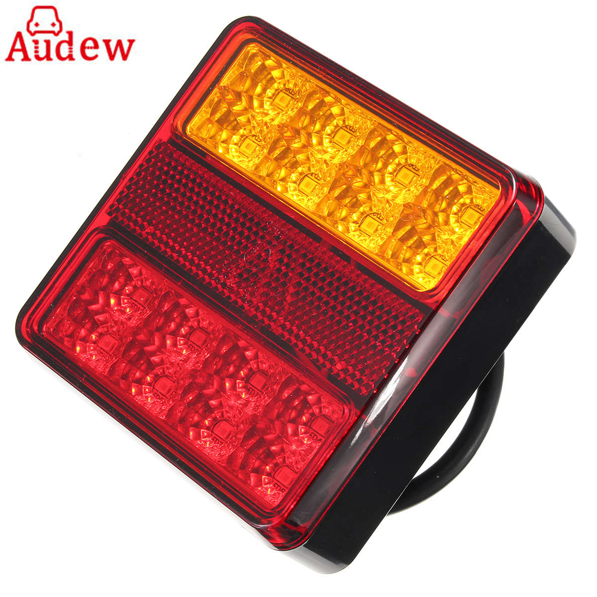22LEDS Car Truck Rear Tail Light Warning Lights Rear Lamps Waterproof Tail Parts License Plate Lights for Trailer Truck Boat 12V
