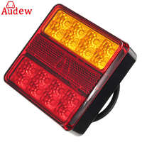 22LEDS Car Truck Rear Tail Light Warning Lights Rear Lamps Waterproof Tail Parts License Plate Lights