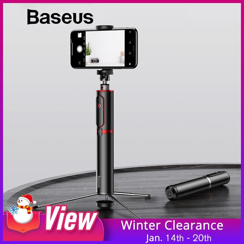 Baseus de palo de Selfie Bluetooth portátil de mano teléfono inteligente trípode de cámara con control remoto inalámbrico para iPhone Samsung Huawei Android