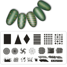 30pc/set 12.5*6.5cm Rectangle 2joy Series Nail Stamping Plates Flowers Image 3D DIY  Pattern Plate DIY Nail Stamping Template