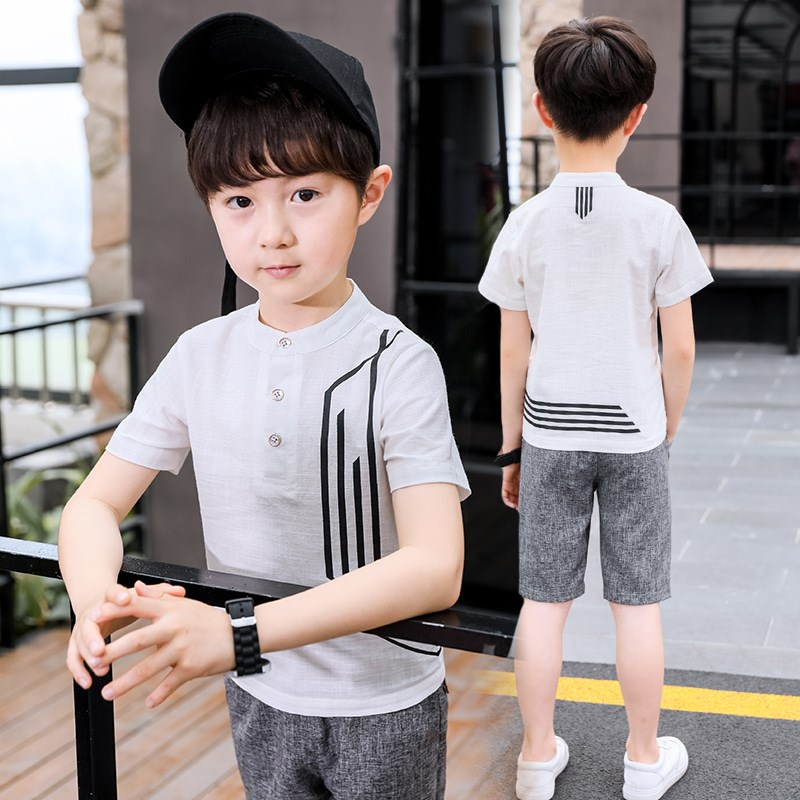 Children's clothing boy summer T-shirt large children short-sleeved 2018 new half-sleeved cotton long-sleeved trend version FREE skull 3d printing short sleeved t shirt