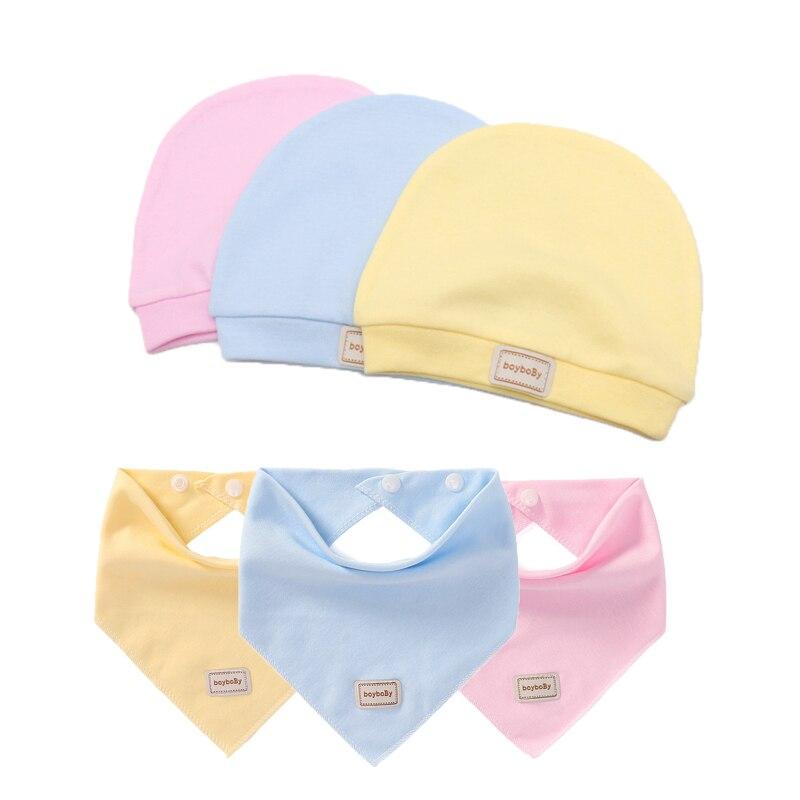 3 Color Reusable Newborn Baby Hat Soft Cotton Baby Hats Cap Photography Props Baby Stuff Bibs Baby Girl Boy Bonnet