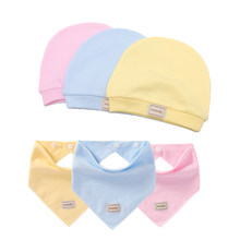 3 Color Reusable Newborn Baby Hat Soft Cotton Baby Hats Cap Photography Props Baby Stuff Bibs Baby Girl Boy Bonnet(China)