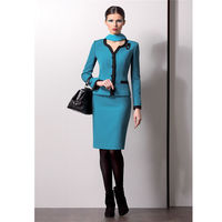 New Business formal women skirt suit Long Sleeve Ladies blazer office Interview Work Outfits B332