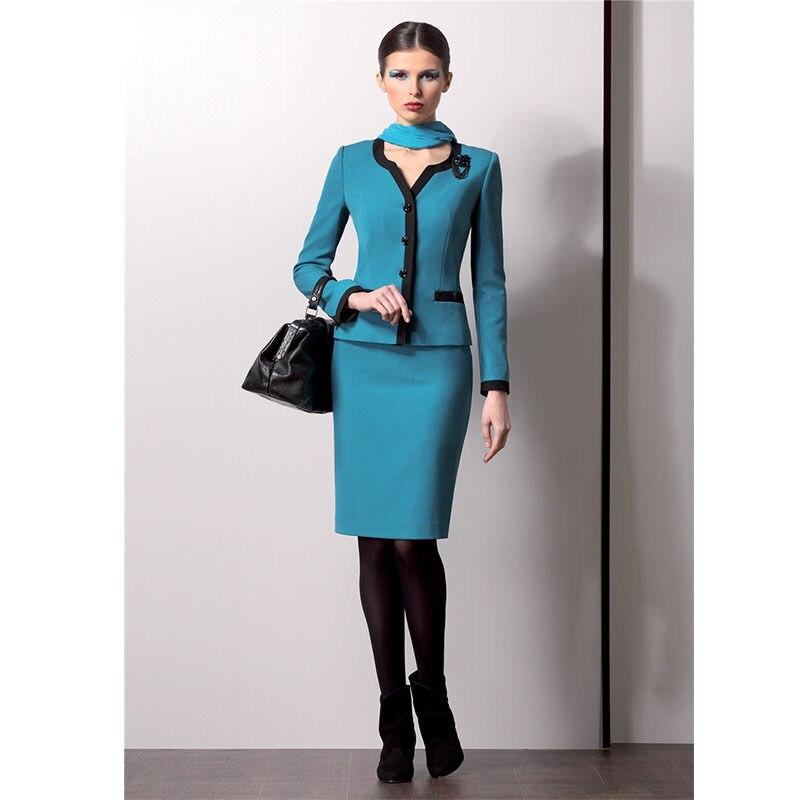 Здесь продается  New Business formal women skirt suit Long Sleeve Ladies blazer office Interview Work Outfits B332  Одежда и аксессуары
