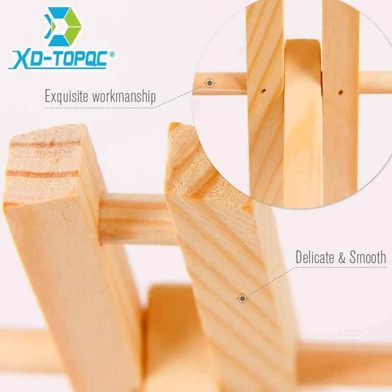 XINDI Pine Wood Easel 3 Sizes Tabletop Drawing Artist Wooden Fold Standing Easels Painting Whiteboard Chalk board Easels WE05 5