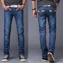 Модного сложите обработки б/у полная бренда длина прямые случайные джинсы тонкий