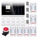Kerui! IOS APP Android GSM PSTN Dual Wlreless Casa Sistema De Alarme teclado de Toque de Voz Russo Inglês Espanhol Francês