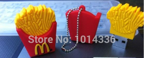 chip French Fries USB Flash Drive Memory Disk Card Stick Thumb/Car/Pendrive Key U Disk/ 2GB 4GB 8GB 16GB 32GB gift#21