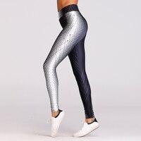 New 2018 Fashion Black White Digital Printed Leggings For Women Sexy Fitness Legging Elastic Slim Sporting