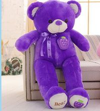 creative toy fruit bear plush toy huge 160cm purple grape teddy bear doll,soft hugging pillow birthday gift, Xmas gift d2293