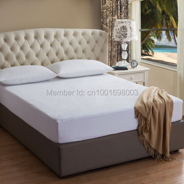 140X200CM Terry Cotton Mattress Cover 100 Waterproof Hypoallergenic Breathable Vinyl Free Mattress Cover