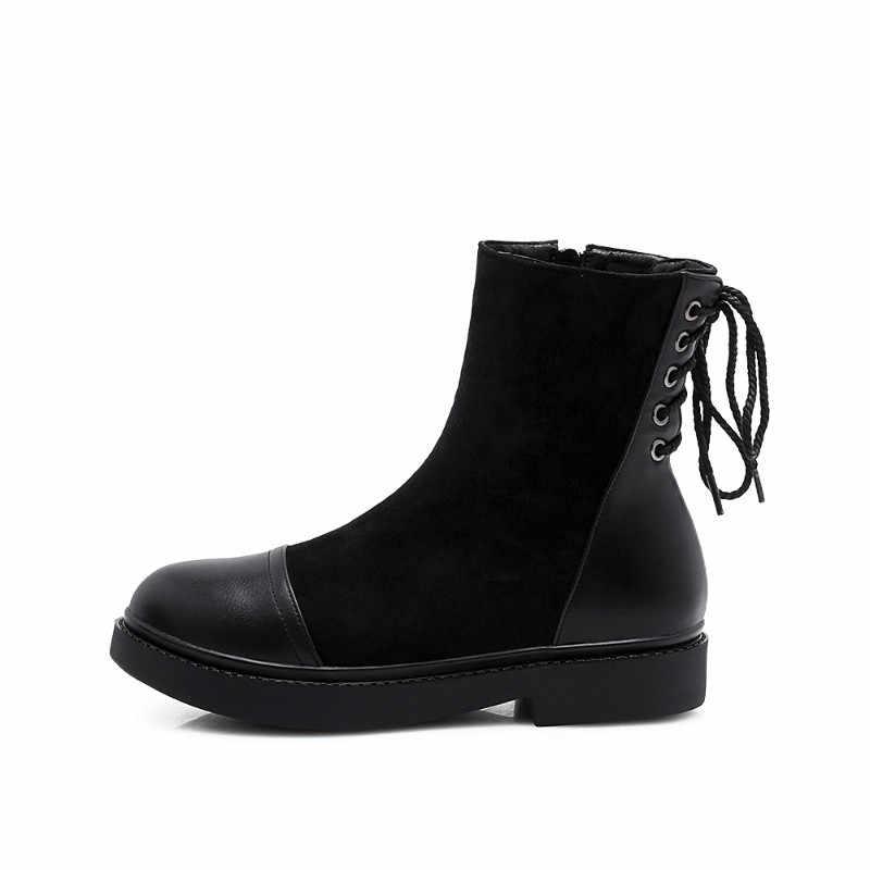 XIUNINGYAN kobiety ciepłe trzewiki na śnieg klamra Martin buty buty wysokiej jakości dziewczyny gorąca sprzedaż europejski styl czarne buty zimowe