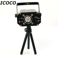 ICOCO Clearance Sales Quality Guaranteed Black Mini Projector Holographic Star Stage Laser Light Disco Effect DJ