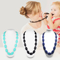 Food Grade Silicone Baby Teething Necklace Beads Chew Baby Teether Necklaces Mom Nursing Toddler Infant Teething Toys