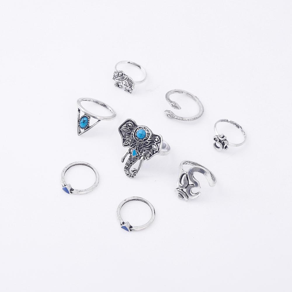 HTB1oWOyRVXXXXatapXXq6xXFXXXG Fashionable 8-Pieces Boho Retro Spirituality Symbols Stackable Midi Ring Set