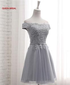Image 4 - Hot Sale Many Colors A line Cap Sleeve Tulle Lace Short Evening Dresses 2020 New Elegant Party Dress Prom Gown EN04K