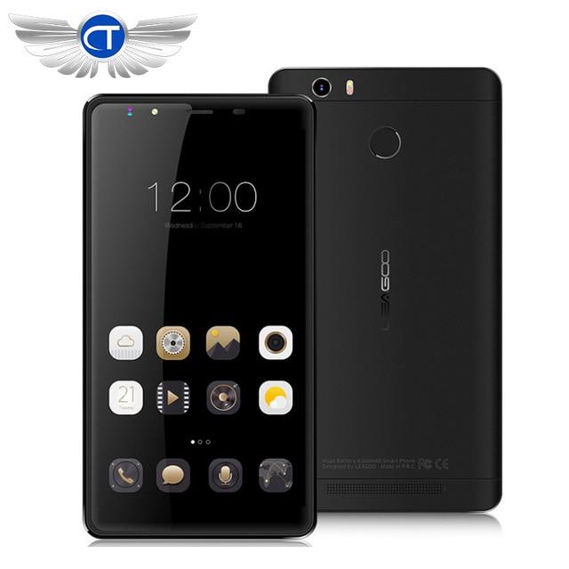 "Original Leagoo Shark 1 LTE 4G Cell Phone Android 5.1 6.0"" FHD 3GB RAM 16GB ROM MTK6753 Octa Core Phone 13.0MP 6300mAh Touch ID"