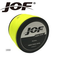 JOF 1000M Brand Superpower 8Strands Strong Japan Multifilament 100 PE Braided Fishing Line 13 200 LB