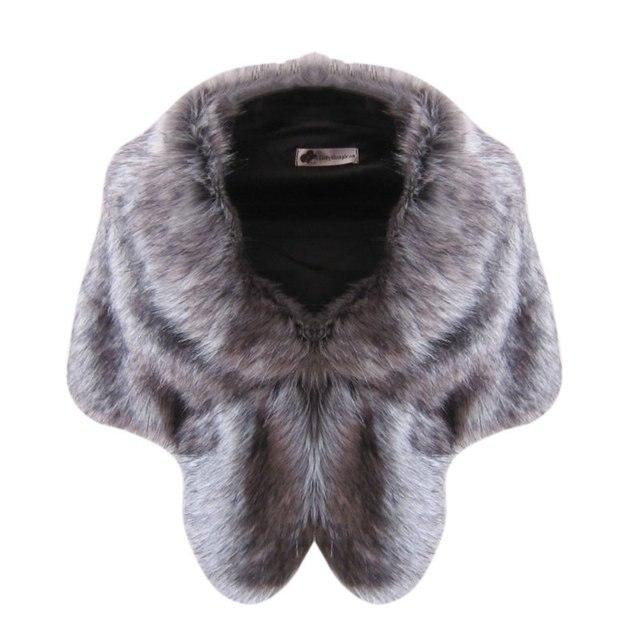 Осень Зима Женская Мода Шаль Куртка Высокого класса Элегантный Женщины Платок Искусственный Мех Короткий Стиль Обруч Шали Shrug шарф LM93