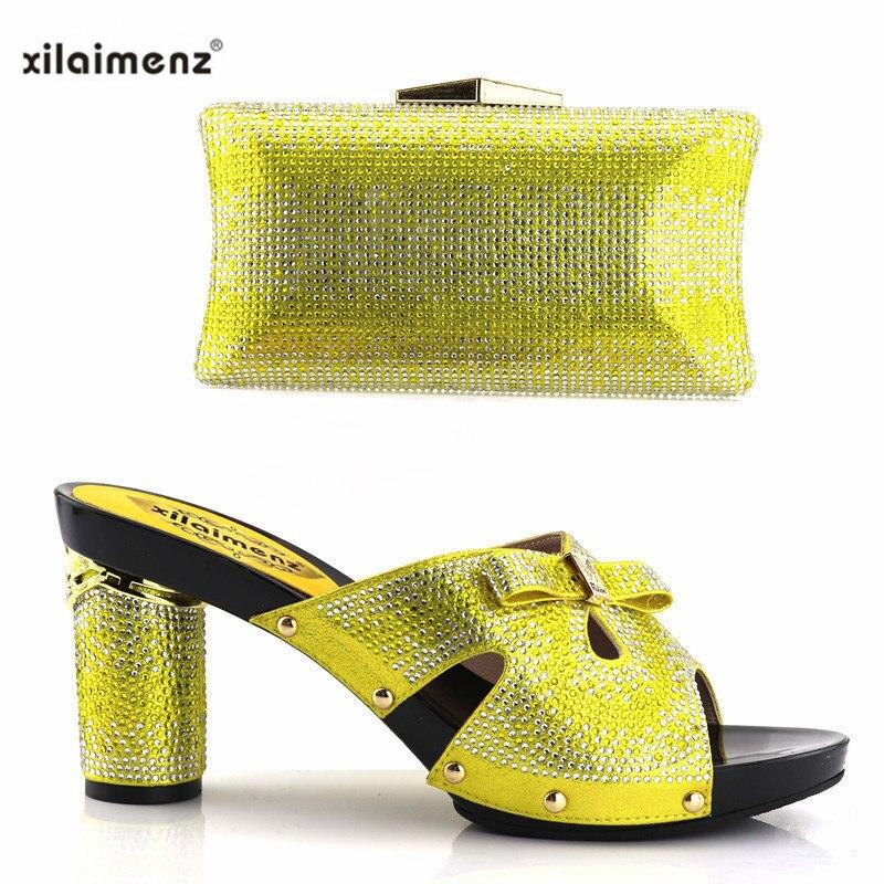 Black yellow Nueva green red 2018 40 Decorar Con Las Italianos De Zapatos Bolso Gratuito Juego Envío Tienda Llegada Señoras Slingbacks A blue Rhinestone Descuento qgqwHrC