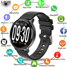 LIGE Smart Sport Watch women Men Waterproof Fitness Bracelet Blood Pressure Heart Rate Monitor Pedometer Smart Watch For Android недорого