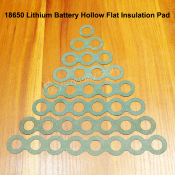 100pcs/lot 18650 Lithium Battery Positive Hollow Insulation Pads Negative Barrels Green Shell Insulation Pads Meson Accessories 2 pcs flexible pvc battery terminal covers positive negative insulation boots protector automobile for cars boats and trucks
