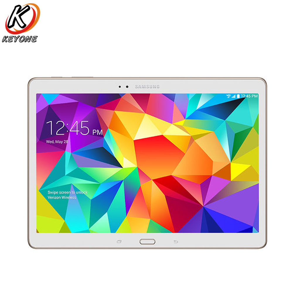 Original nouveau Samsung Galaxy Tab S T807V Verizon WIFI 4g Tablet PC 10.5 pouce 3 gb RAM 16 gb ROM Double Caméra Android 7900 mah PC