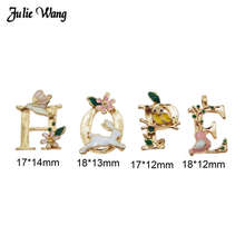 Julie Wang Alloy Enamel Alphabet Letters Charm Hope Love Creative Pendant Festival Home Decor Hanging Craft Handmade Gifts