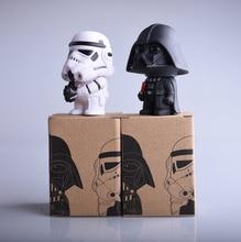 1pcs 11cm Star Wars figure The Force Awakens Darth Vader BB-8 R2D2 PVC Model Action Figure dark warrior Toys New IN BOX