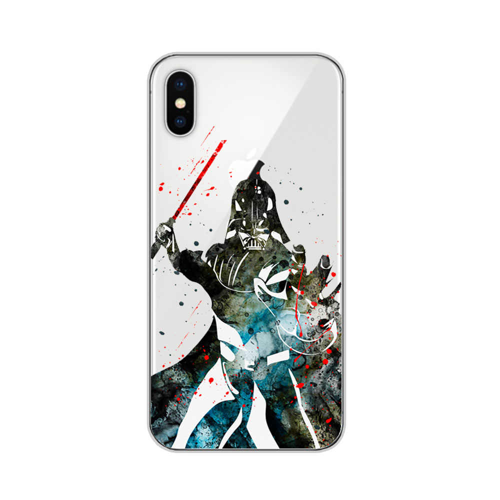 separation shoes 05855 97339 Phone Case Star Wars For iPhone X XS Max XR 7 8Plus 6 6S Plus 5 5S SE Soft  TPU Silicone Case Cover
