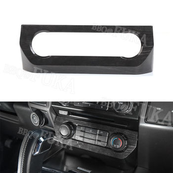 For Ford F150 2015+ ABS Car Dashboard Air Condition Button Panel Cover Trim Wood Style/black/red/silver