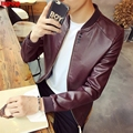 The new male 2017 Cultivate one's morality spring tide Handsome baseball leather coat